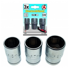 Galvučių rinkinys 15-17-19 mm, 3vnt.