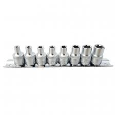 """Galvučių rinkinys E-Tipas 10 mm (3/8"""") - E4 - E14 - 8 vnt."""