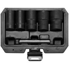 Galvučių rinkinys sugadintiems varžtams 17-19-21-23-27 mm