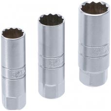 """Galvučių rinkinys žvakėms 12 kampų - 10 mm (3/8"""") - 14 - 16 - 18 mm"""