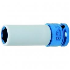 """Galvutė ilga plonasienė smūginė su plast. apsauga 1/2"""", 17 mm"""