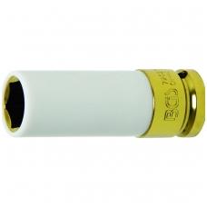 """Galvutė ilga plonasienė smūginė su plast. apsauga 1/2"""", 19 mm"""