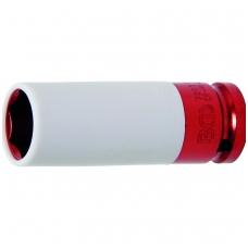 """Galvutė ilga plonasienė smūginė su plast. apsauga 1/2"""", 21 mm"""