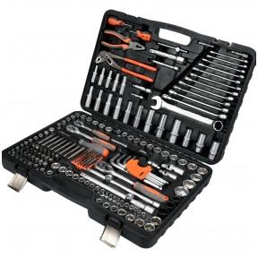 Galvučių, replių, raktų ir kitų įrankių XXL komplektas 225 vnt.