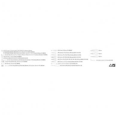 Galvučių, replių, raktų ir kitų įrankių XXL komplektas 129 dalių 7