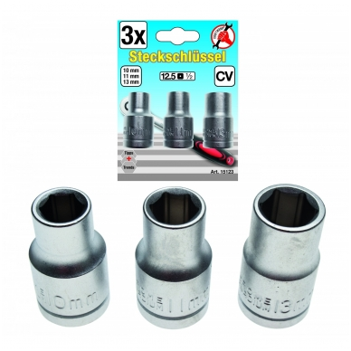 Galvučių rinkinys 10-11-13 mm, 3vnt.