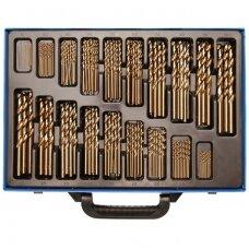 Grąžtų metalui komplektas HSS, kobalto lydinys 1-10mm. 170vnt.