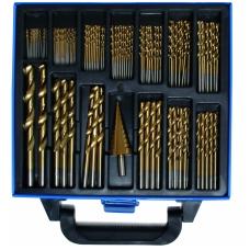 Grąžtų rinkinys metalui 1 - 10 mm, dengti titanu 119 vnt.