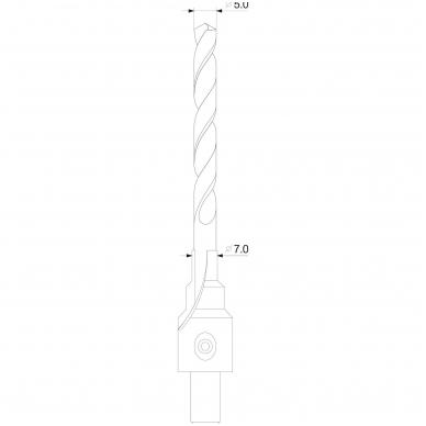 Grąžtas freza medžiui - baldų varžtams - 5-7 mm 4
