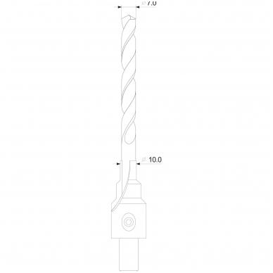 Grąžtas-freza medžiui- baldų varžtams , 7-10 mm 4