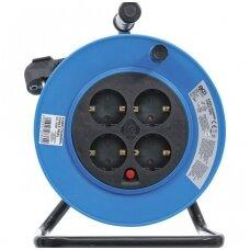 Ilgintuvas su rite 15m. 3x1,5mm² 4 kištukiniai lizdai IP 20 3000W