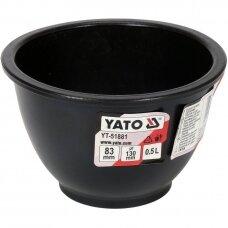 Indas/dubuo,  konstrukcinis puodelis guminis, lankstus gipsui 0,5l.