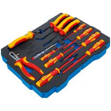 Įrankių dėklas VDE replių / atsuktuvų rinkinys 13vnt.BGS BOXSYS1 ir 2 lagaminui 12vnt.