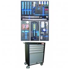 Įrankių spintelė su ratukais - padangų servisas - su 82 įrankiais