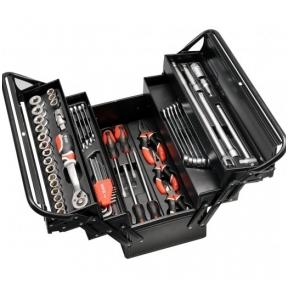 Įrankių rinkinys su metaline dėže 63 vnt