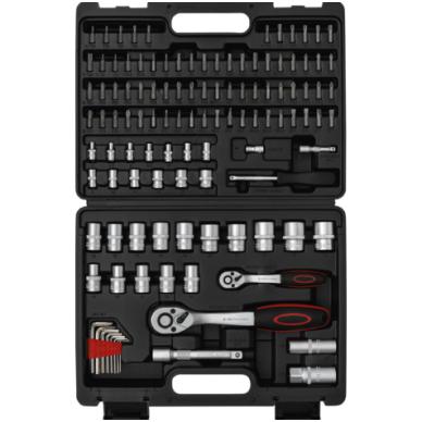 """Įrankių rinkinys 6.3mm (1/4"""") 12,5mm (1/2"""") 115 vnt. 4"""
