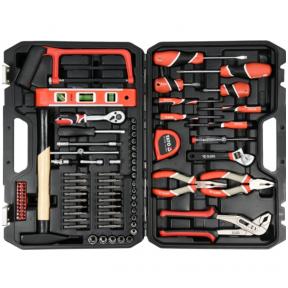 Įvairių įrankių rinkinys - su plaktuku  88 vnt.
