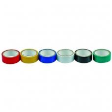 Izoliacinių įvairiaspalvių juostų rinkinys 6 vnt: 19mm х 0,13mm х 3m