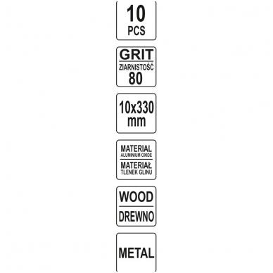 Juosta pneumatiniam šlifuokliui P80 10X330mm, 10 vnt. 4