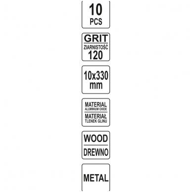 Juosta pneumatiniam šlifuokliui P120 10X330mm, 10 vnt.. 4