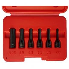 Kaitinimo žvakės elektrodo ištraukimo-išsukimo galvučių rinkinys   6.3 mm -  6 vnt.