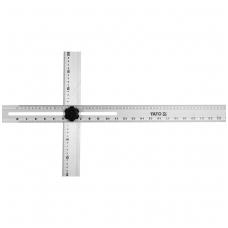 Kampainis reguliuojamas - aliuminis - 600 mm x 360 mm