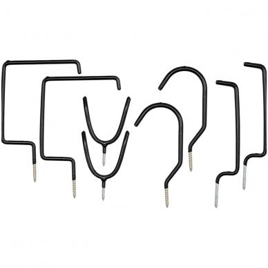Kablių tvirtinamų ant lubų ir sienos, rinkinys 8 vnt.