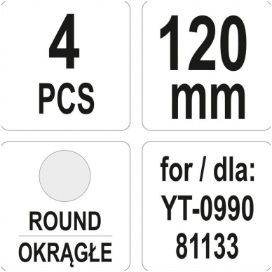 Kaltai pneumatiniams plaktukams - 4 vnt. 4