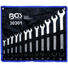 Kombinuotų lenktų raktų rinkinys 12 vnt. 6-22 mm DIN 3113, ISO 3318