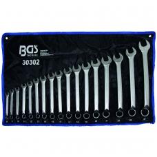 Kombinuotų lenktų raktų rinkinys 17 vnt. 8-27 mm DIN 3113, ISO 3318