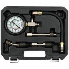 Kompresijos matuoklis benzininis su antgaliais
