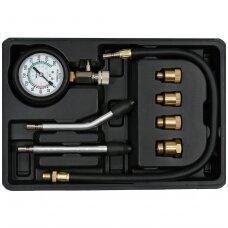 Kompresijos matuoklis benzininis su antgaliais 8vnt.