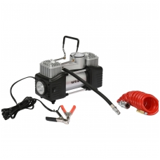 Kompresorius automobilinis-2 cilindrai- Led lempa - 12V - 250W