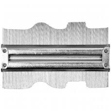 Kontūrų matuoklis metalinis 150mm.