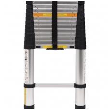 Kopėčios aliuminės teleskopinės 13 laiptelių, 3.8m