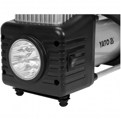 Kompresorius automobilinis-2 cilindrai- Led lempa - 12V - 250W 3