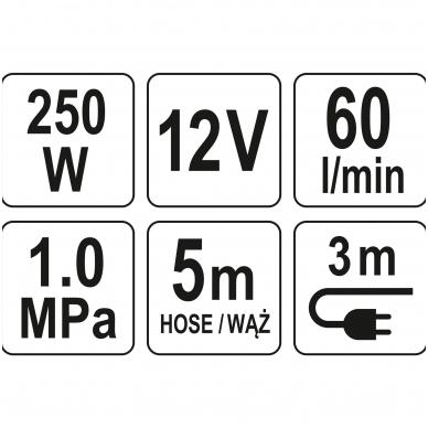 Kompresorius automobilinis-2 cilindrai- Led lempa - 12V - 250W 7