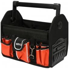 """Krepšys įrankiams karkasinis su aliumine rankena 13"""", 17 kišenių"""