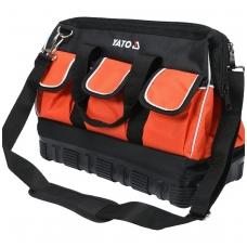"""Krepšys įrankiams su guminiu korpusu 16"""", 15 kišenių"""