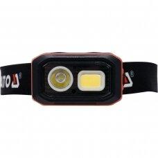 Lempa dedama ant galvos lygus žibinto reguliavimas / judesio daviklis 500LM AKU/3XAAA OSRAM LED