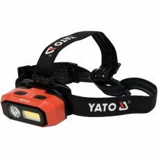 Lempa dedama ant galvos lygus žibinto reguliavimas / judesio daviklis 800LM AKU OSRAM LED
