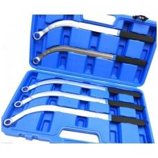 Lenktų raktų, skremulio įtempiklių rinkinys - 13, 15, 16, 17, 19mm