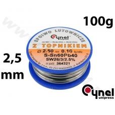 Lydmetalio viela Ø 2,50mm. 100g su fliusu