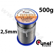 Lydmetalio viela Ø 2,50mm. 500g su fliusu