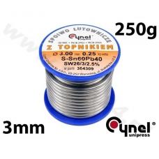 Lydmetalio viela Ø 3,00mm. 250g su fliusu