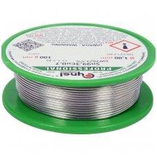 Lydmetalis be švino Ø 1.0mm. 100g.