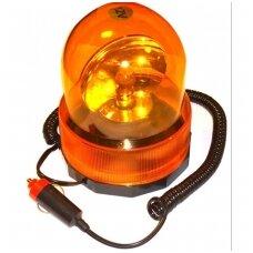 Magnetiniė įspėjamoji lemputė 360°  geltona švies H1 lemputė / 12V