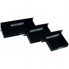 Magnetinės lentynos įrankių vežimėliams ir kt. 3 vnt. 150-210-310 mm