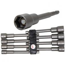"""Magnetinių ilgų galvučių rinkinys, 8 vnt, 1/4""""(6.3mm) 6-13 mm"""