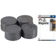 Magnetų rinkinys   keramika   Ø 18 mm  8 vnt.